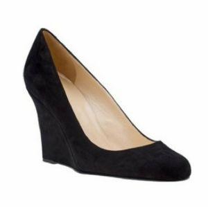 Kate Spade Wedges Black Suede Size 8.5